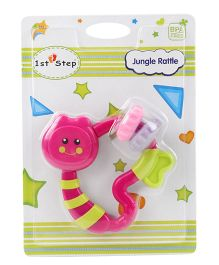 1st Step Jungle Rattle - Pink