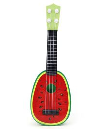 Baby Guitar Watermelon Fruit Design - Red & Green