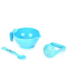 1st Step Food Grinder With Spoon - Blue