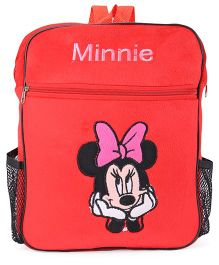 Tickles Minnie Mouse Plush Backpack With Pocket Red - Height 13 Inches