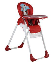 Sunbaby Naughty Zebra High Chair SB 4221DLX - Red