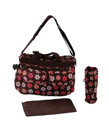 Sunbaby Mother Bag With Insulated Bottle Holder & Changing Mat SB 1004 - Brown