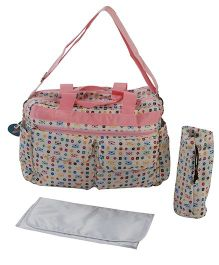 Sunbaby Mother Bag With Insulated Bottle Holder & Changing Mat SB 1004 - Pink