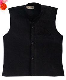 BunChi Stylish Ethnic Waistcoat - Black