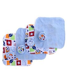 Mothers Choice Hand & Face Towels Pack Of 12 - Blue And White