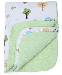 Mothers Choice Blanket Tree Print - Green And White