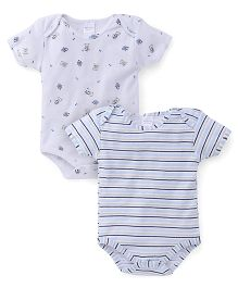 Mothers Choice Half Sleeves Onesies Pack Of 2 - White