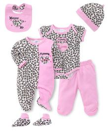 Mothers Choice Infant Multipiece Clothing Pack of 6 - White Pink