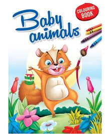 Coloring Book Baby Animals - English