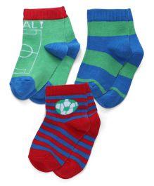 Mustang Socks Pack Of 3 - Red Green Blue
