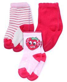 Mustang Socks Pack Of 3 - Pink