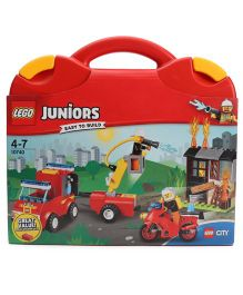 Lego Juniors Fire Patrol Suitcase - Red