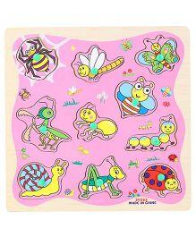 Kids Puzzle Bee Print - Pink