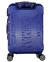 DC Comics Batman Gamme Embossed Design Luggage Trolley Bag Blue - 20 Inches