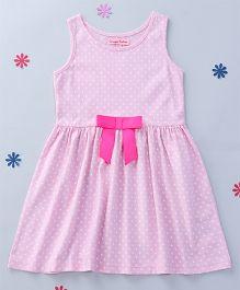 CrayonFlakes Hearts Printed Dress - Light Pink & Beige