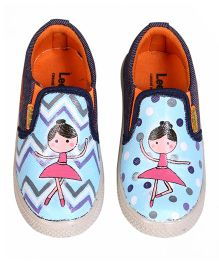 Brush Strokes Ballet Hand Painted Canvas Shoes - Pink & Blue