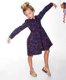 Yo Baby Floral Shirt Dress - Purple