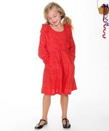 Yo Baby Apron Dress - Red