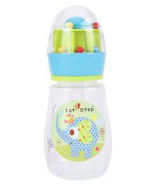 1st Step Feeding Bottle Lion Print Light Blue - 200 ml