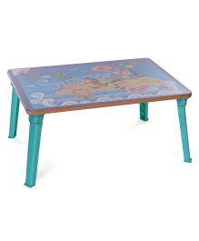 Ratnas Foldable Study Table Summer Print - Sea Green & Blue