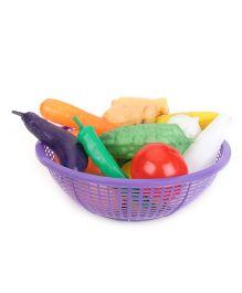Ratans Fresh Vegetable Basket Purple - 15 Pieces