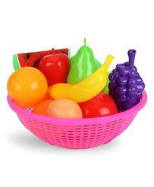 Ratnas Fresh Fruit Basket Pink - 12 Pieces