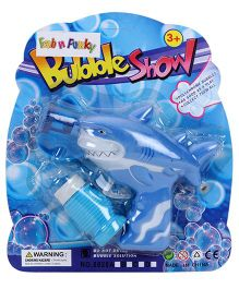 Bubble Gun Shark Shaped - Blue And Aqua