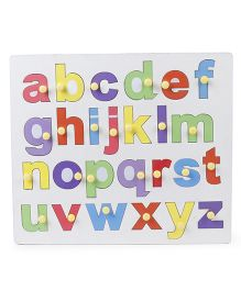 Anindita Toys Wooden Tray Puzzles Small Alphabets Multi Color - 26 Pieces
