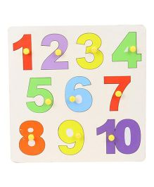 Anindita Toys Numerical Puzzle With Knobs 1 to 10 - Multi Color