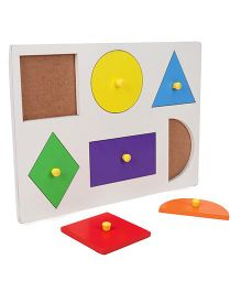 Anindita Toys Wooden Puzzle Shape Sorter Small - Multi Color