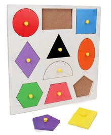 Anindita Toys Wooden Puzzle Shape Sorter Big - Multi Color