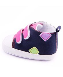 Wow Kiddos Velcro Strap Sneakers - Blue & Pink