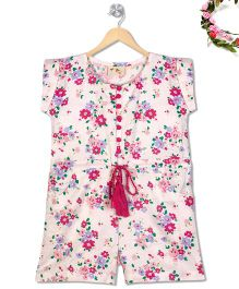 Budding Bees Floral Tassel Jumpsuit - Off White