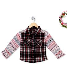 Budding Bees Trendy Plaid Print Shirt - Multicolour