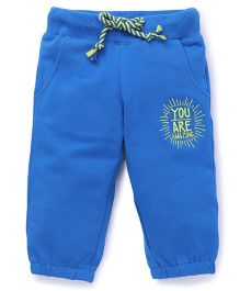 Vitamins Full Length Lounge & Track Pants - Blue