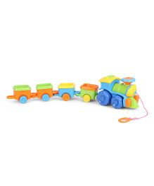 Pull Along Baby Train Toy - Multi Color