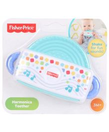 Fisher Price Harmonica Shaped Rattle Teether - White Blue