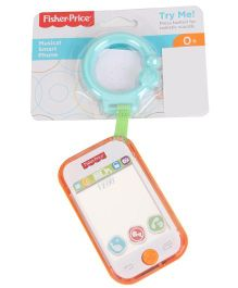 Fisher Price Musical Smart Phone - White Orange