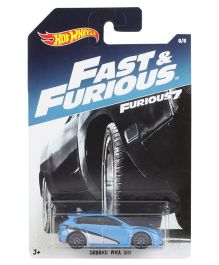 Hot Wheels Fast and Furious Subaru Die Cast Model - Blue