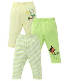 Ohms Multi Print Leggings Pack of 3 - Green