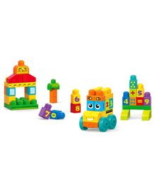 Mega Bloks First Builders 123 Bus Multi Color - 45 Pieces
