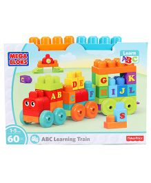 Mega Bloks ABC Learning Train Multi Color - 60 Pieces