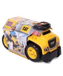 Mega blocks Cat Ride On With Excavator - Yellow