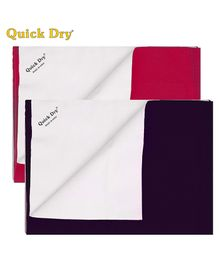 Quick Dry Bed Protector Mat Pack Of 2 Orchid & Plum - Small