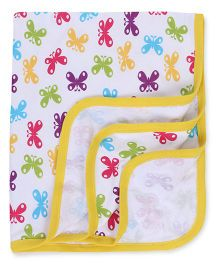 Ohms Butterfly Print Blankets - Multi Color