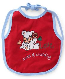 Ohms Bibs Teddy Print - Red