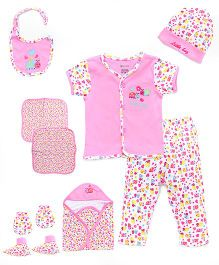 Ohms Clothing Set Bug Print Pack Of 12 - Pink