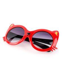 Princess Cart Cat Anti Uv Sunglasses - Red