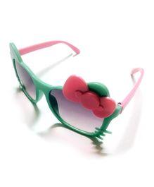 Princess Cart Cat Bow Sunglasses - Aqua Green