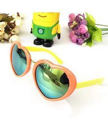 Princess Cart Mirrored Heart Sunglasses - Peach